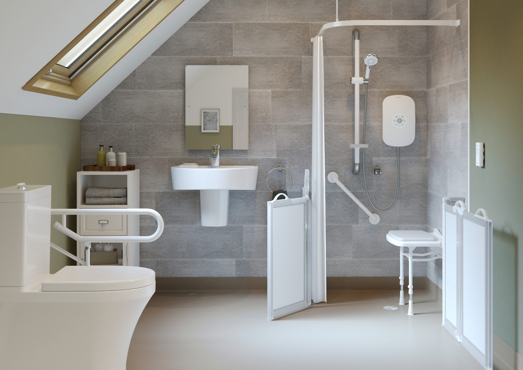 level accessed shower room