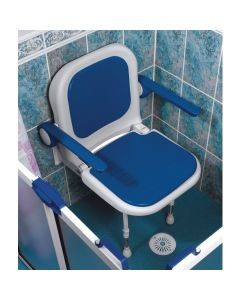 AKW 4000 series shower seat blue 04130P