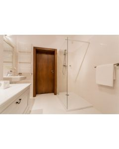 Easy access walk in shower. Fits in most bathrooms where your old bath used to be. Complete luxury 10mm glass screen.